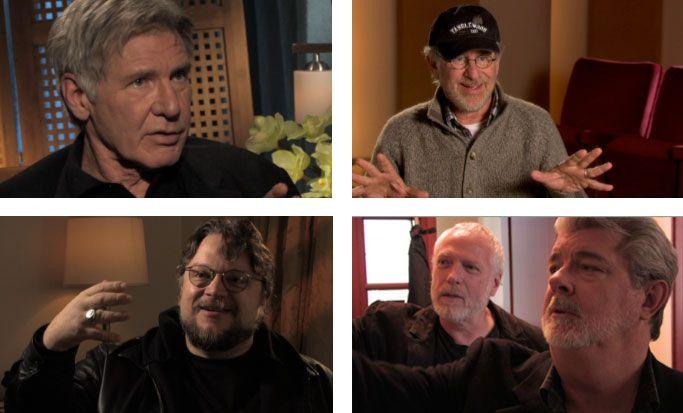 Harrison Ford, Steven Spielberg, Guillermo del Toro, Drew Struzan