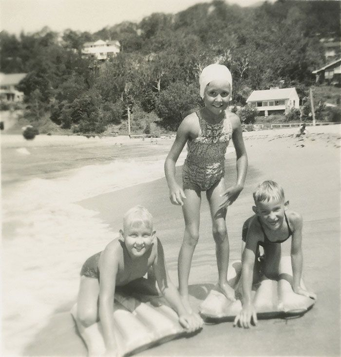 With my brother Paul (left) and my sister Diana at Palm Beach c. 1950