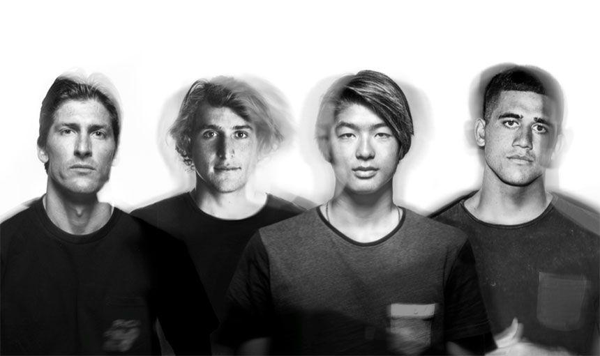Equipo de surf de DC (De izquierda a derecha): Bruce Irons, Leo Fioravanti, Kanoa Igarashi y Ezekiel Lau