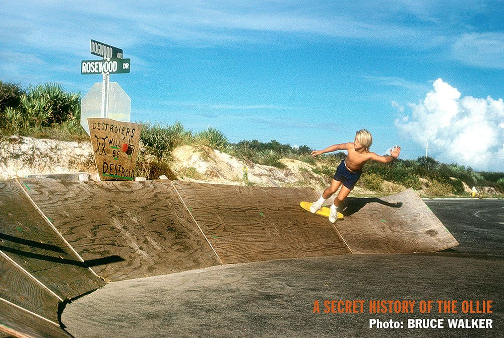 Todd Hanak skating the Dogwood Ramp, the earliest known curved wood ramp, in Melbourne Beach, Florida, by Bruce Walker
