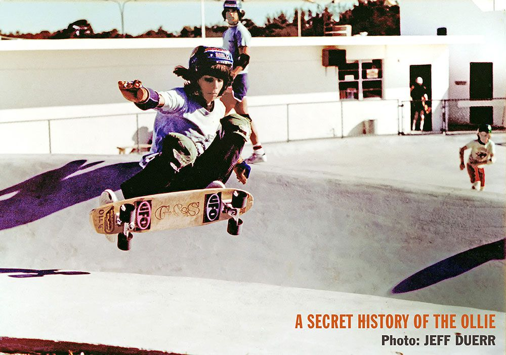 "Alan ""Ollie"" Gelfand in the lower snake run at Skateboard USA, by Jeff Duerr"