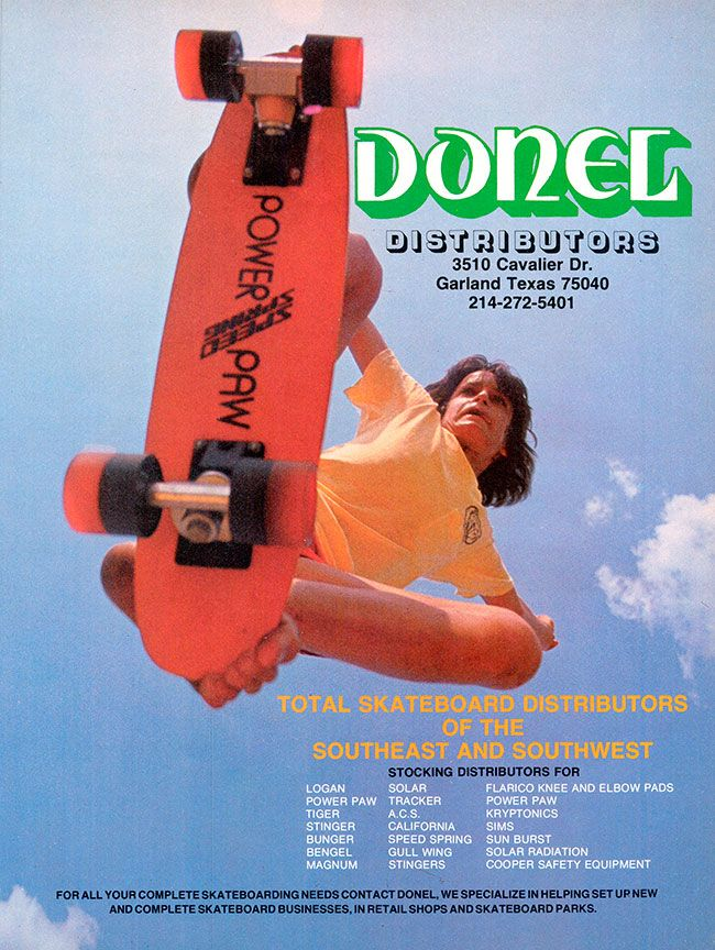 Ad for Donel Distributors, November 1977. Photographer unknown
