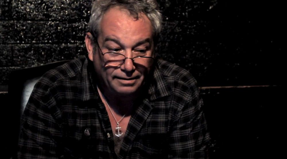 Mike Watt from Minutemen/Dos/Firehose.  Records Collecting Dust.  Photo by Brian Desjean