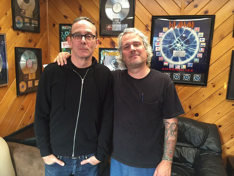 Brian Baker of Minor Threat/Dag Nasty/Bad Religion (L) and Records Collecting Dust II Creator/Director Jason Blackmore (R)