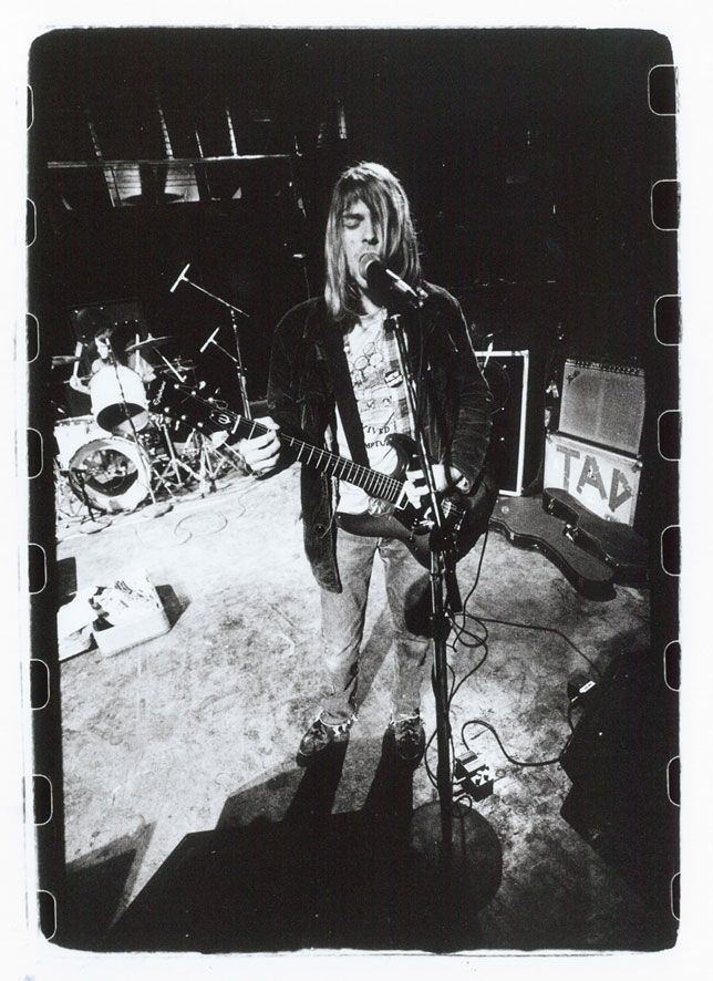 Nirvana sound check before a show in Tijuana, Mexico 1989.