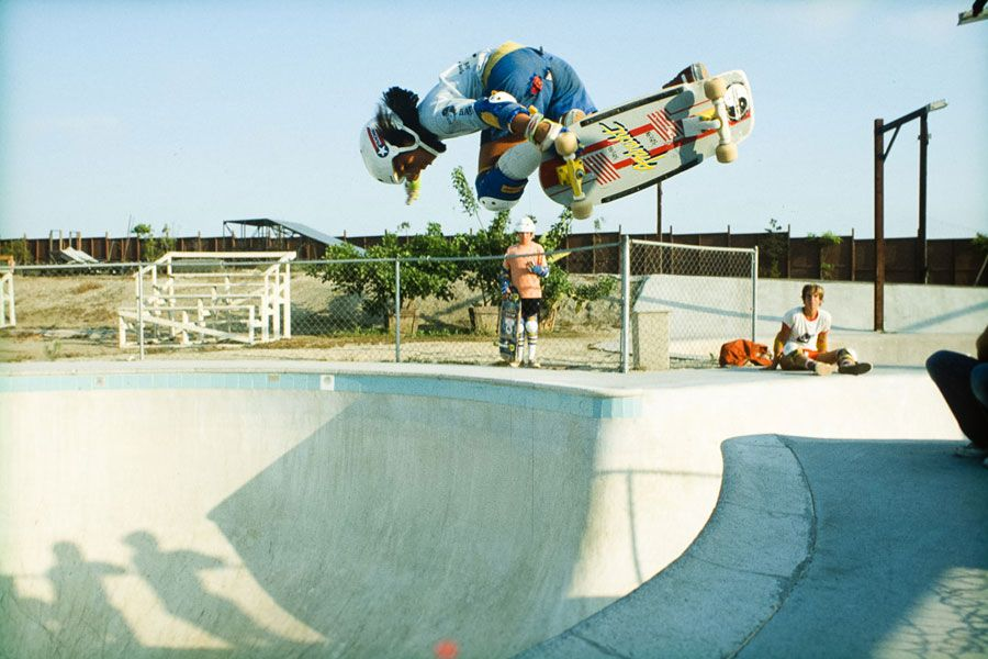 A young Hosoi at Marina Del Rey, early 80's