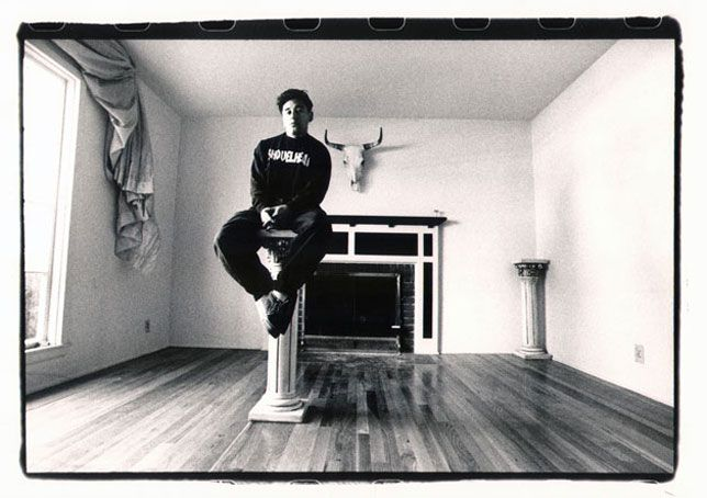 Portrait of Steve Caballero in his home, Campbell, California, 1991.