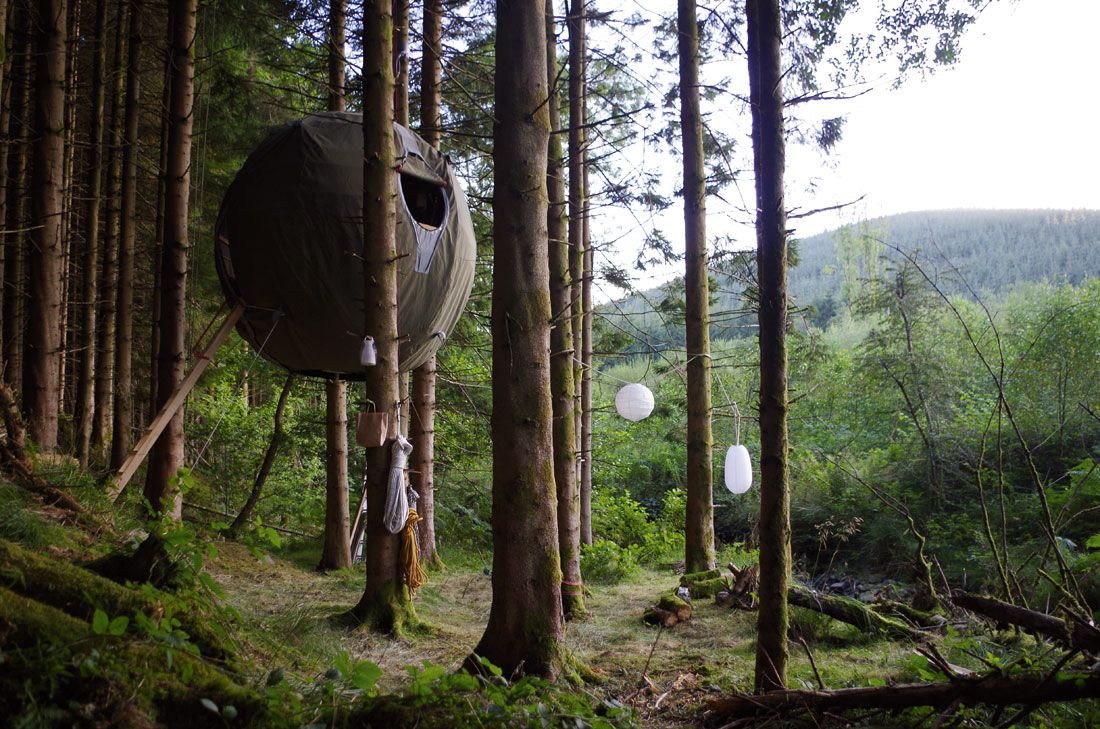 Tree Tents, Photography by Luminair Ltd.