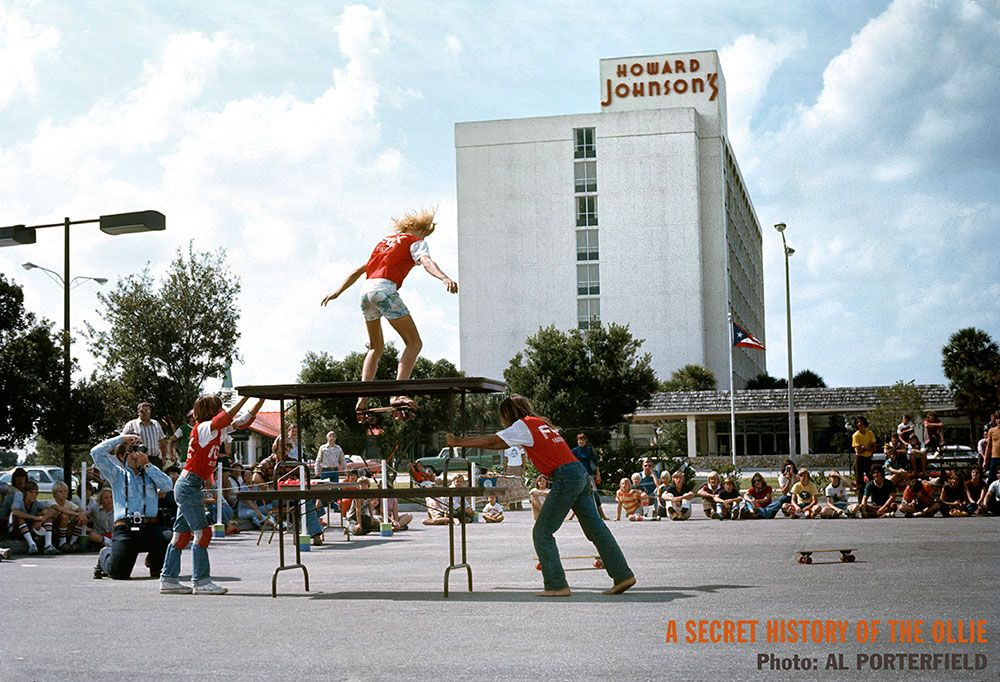 Melbourne Beach skater Shawn Jackson performing at an Orlando competition prior to the first skateparks, by Al Porterfield