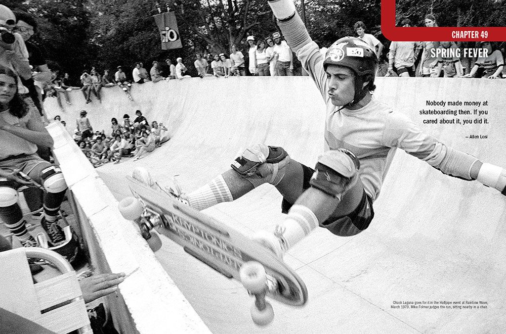 "Chapter 49: ""Spring Fever."" Photo of Chuck Lagana at Rainbow Wave skatepark in Tampa, Florida, by Craig B. Snyder"