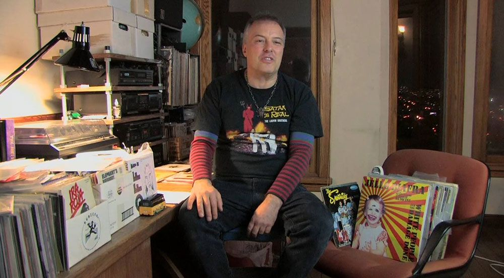 Jello Biafra of Dead Kennedys and Alternative Tentacles.  Records Collecting Dust